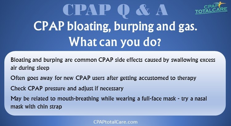 CPAP side effects Bloating Burping and Gas