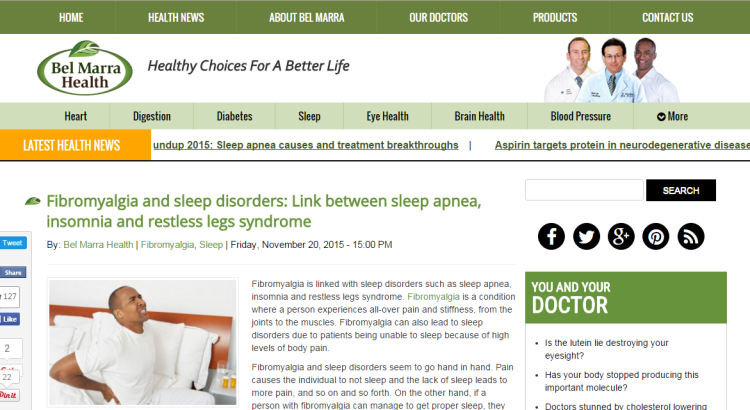 health articles on sleep 2015