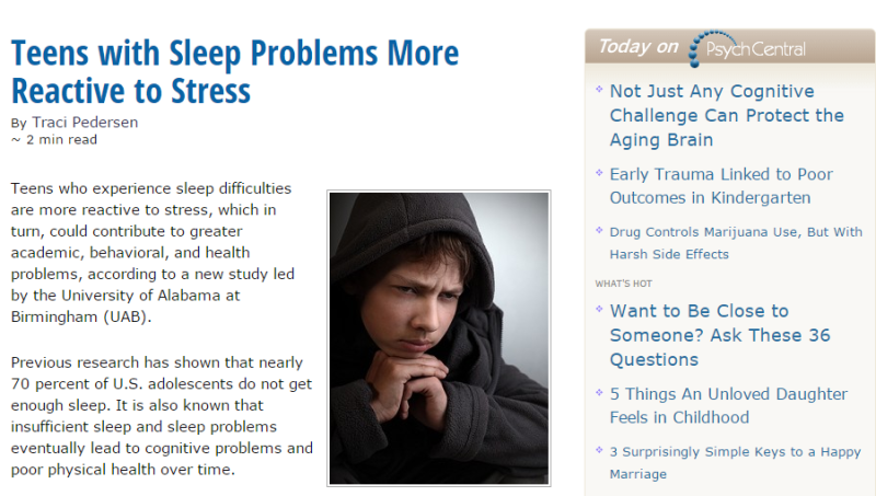 sleep deprivation in teens essay Sleep deprivation is a common problem for teenage students ranging from the  ages of 13 to 19 sleep deprivation is defined as a general lack.