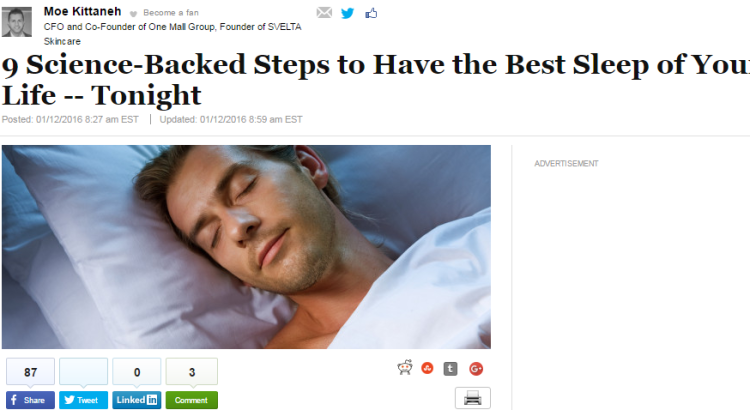 tips for sleeping better