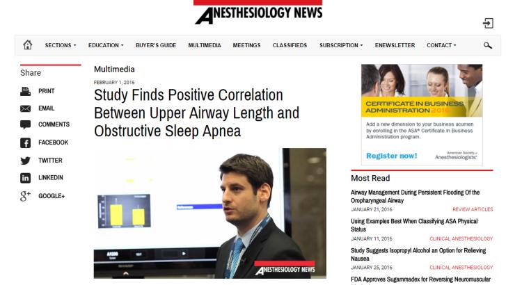 severity of sleep apnea