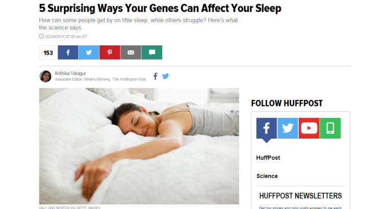 Genetics of Sleep