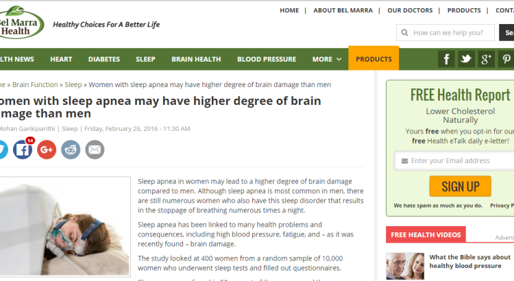 women with sleep apnea